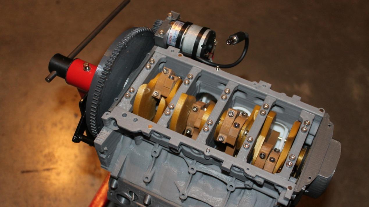 Model of the Week: Chevy Camaro LS3 V8 Engine [3D Printed