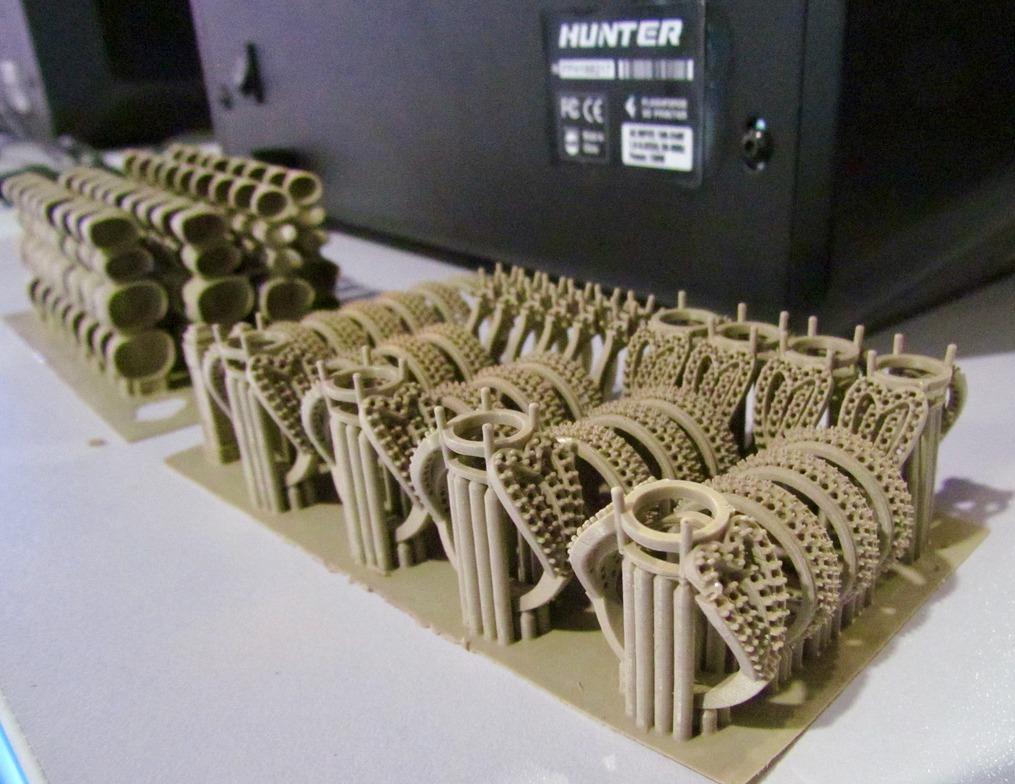 High quality 3D prints from the Flashforge Hunter 3D printer