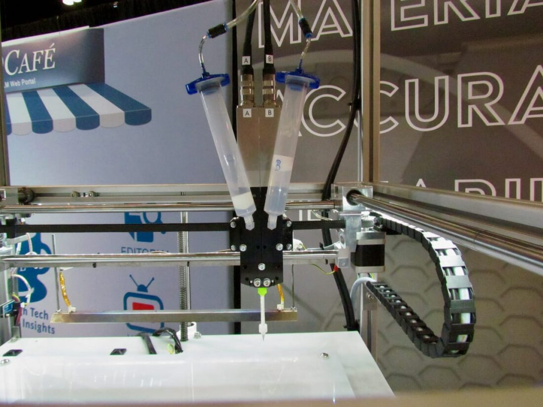 3d printed silicone machine from German RepRap and Dow Corning