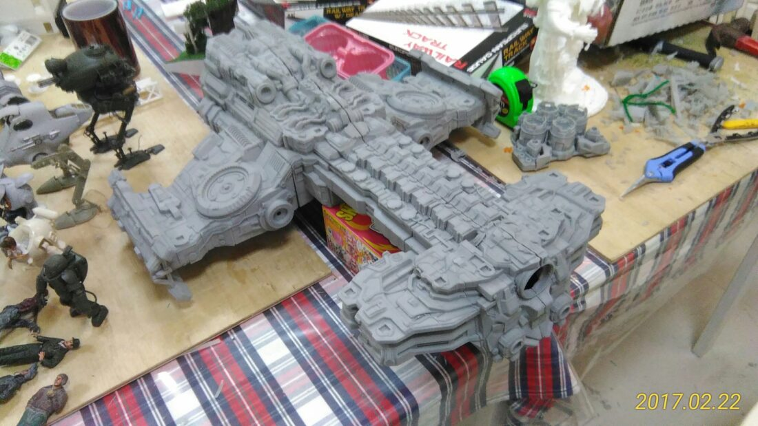 It took Sam Fenimore 325 hours and nearly 9lbs of PLA to 3D print the Hyperion. (Image credit Sam Fenimore)