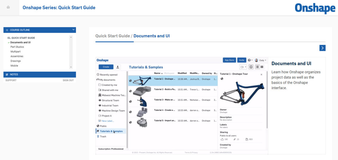 Free Online 3d Cad Training In New Onshape Learning Center