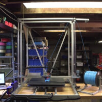 """One Huge, Kickass 3D Printer For You."" Made With Carbon Fiber"