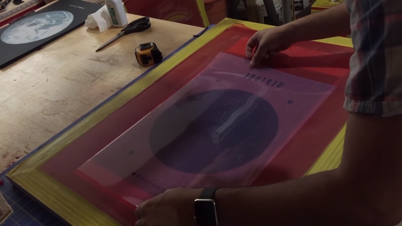 screen-printing process - locate transparency