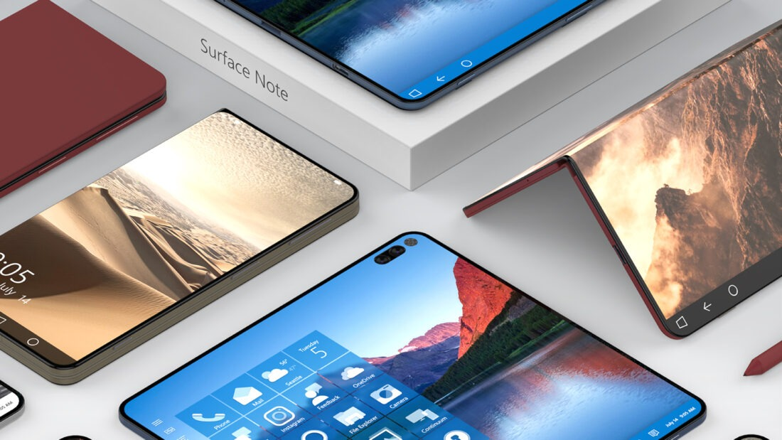 microsoft surface note concept design