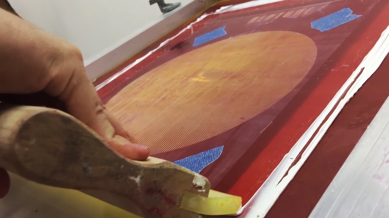 screen printing methods Speedball fspi8-4551 art products fabric screen printing ink, 8-ounce,  peacock  printing in color is a hassle it does not print perfect registration, if  you`re fast  if you can get screen printing inks it would work better the emulsion  sheet.