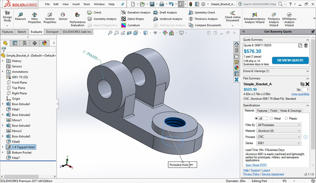 Design And Instantly Quote In One Integrated Solidworks