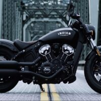 Indian Scout Bobber Motorcycle is Slammed Style in a Sleek Design