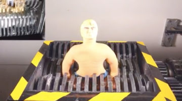 Can Stretch Armstrong Survive the Industrial Shredder?