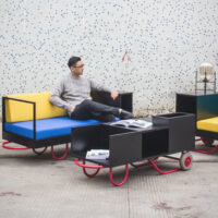Push/Pull is a Modular Furniture Collection Inspired by the Simple Pushcart