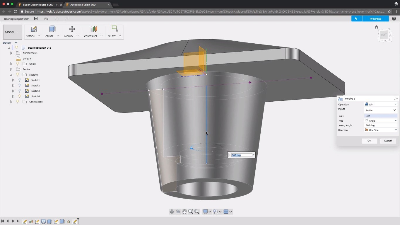 Fusion Team - Fusion 360 in the Browser