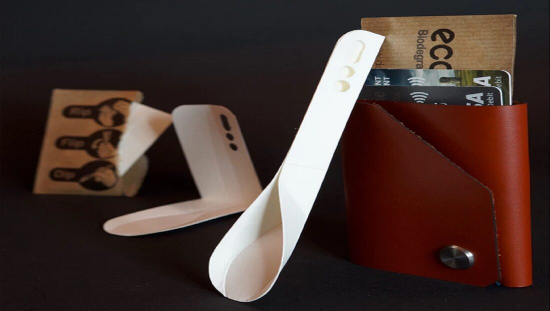 Flat-Packed, Biodegradable Spoon Design