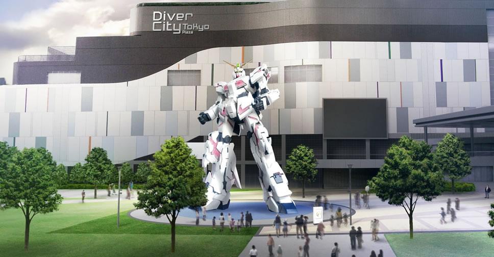 unicorn gundam construction DiverCity Tokyo Plaza