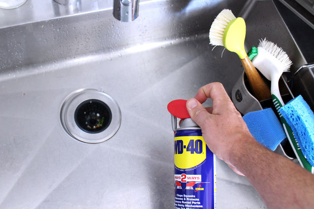 Using WD-40 to clean stainless steel