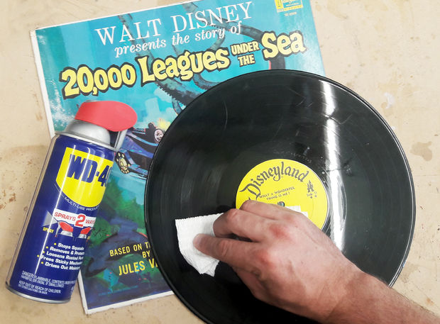 Using WD-40 to clean vinyl records