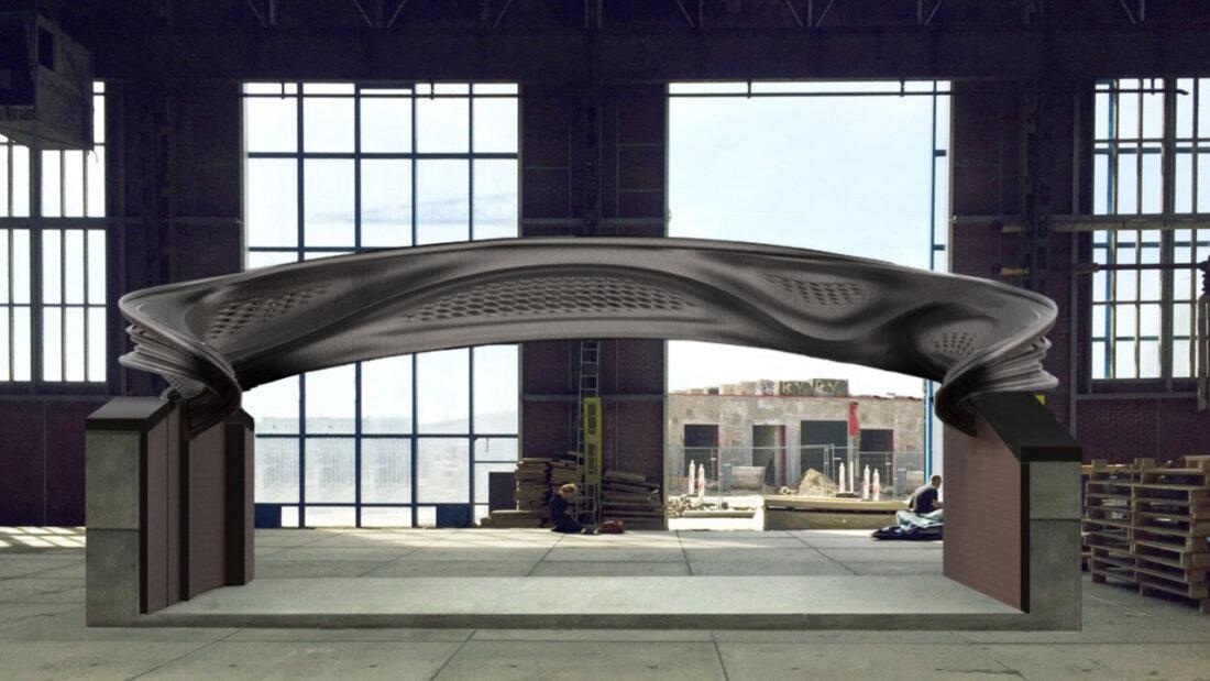 Current design iteration of the MX3D Bridge
