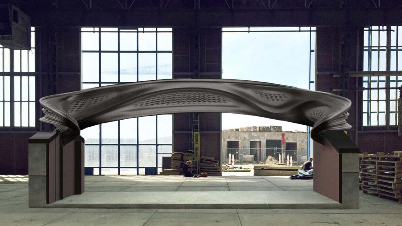 Mx3d reveals first section of 3d printed steel bridge for Design bridge amsterdam