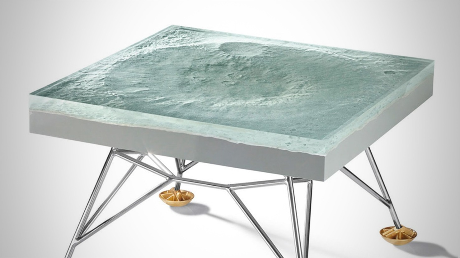 This Table is Made From an Accurate 3D Model of the Moon's Surface