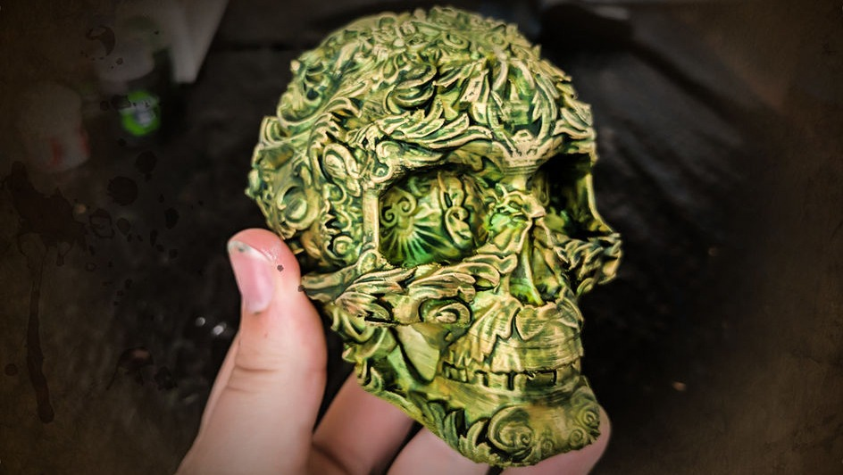 3d printed ancient skull