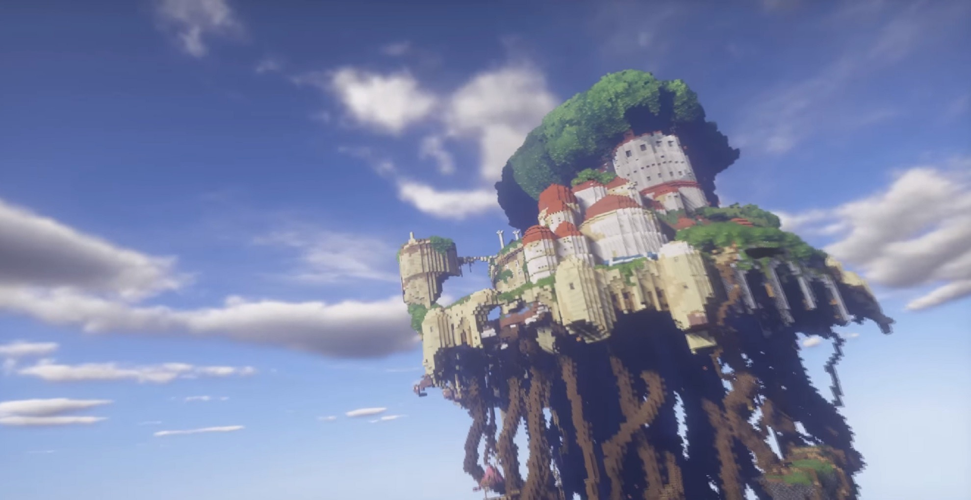 This Laputa Castle In The Sky Minecraft Recreation Took Years To