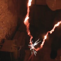 Watch a Steel Chain Glow Red Hot and Snap from a Ridiculously High Electrical Current