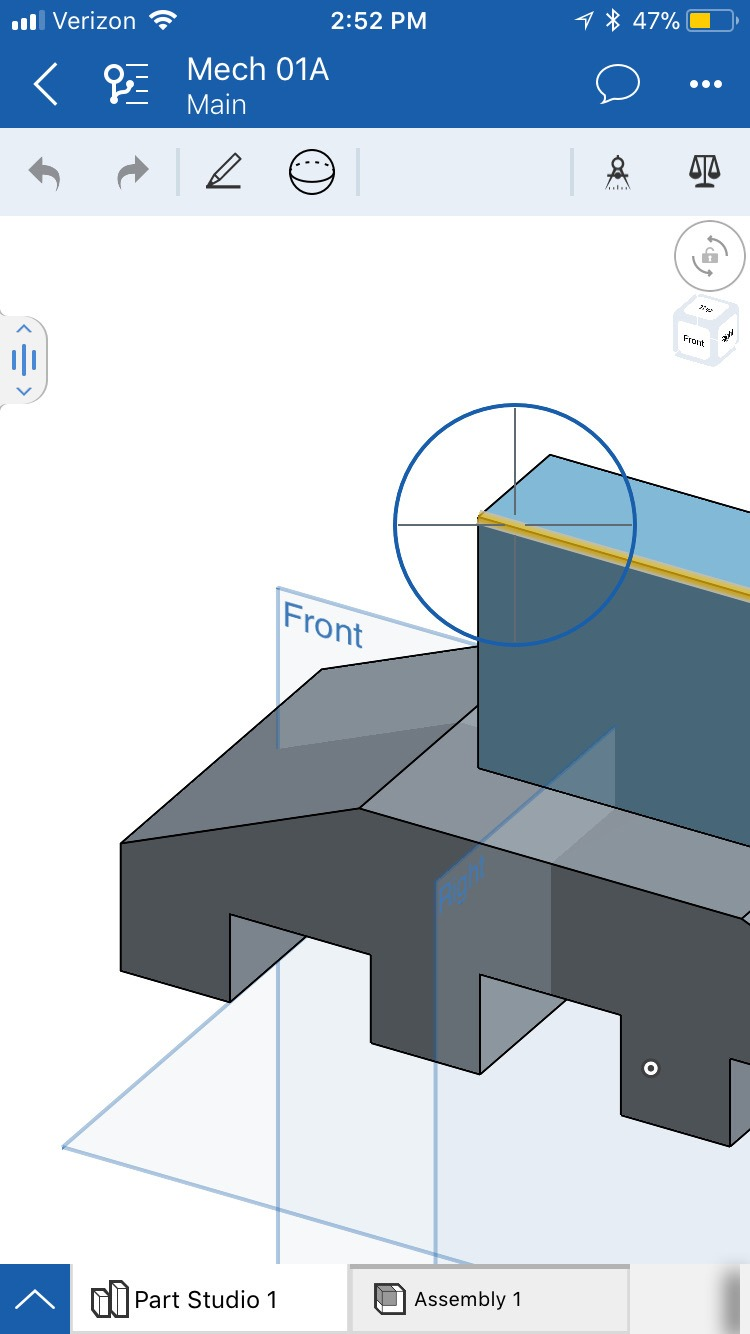 Onshape Mobile Precision Selector