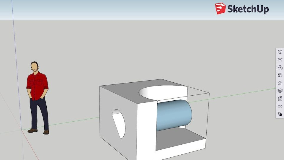 The free online sketchup 3d modeling app is now out of Web based 3d modeling