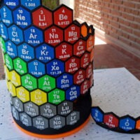 Model of the Week: Cylindrical 3D Printed Periodic Table [C3H4O2 Fun!!]