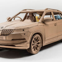 Designer Makes Full Scale Cardboard Karoq SUV Just For Kids