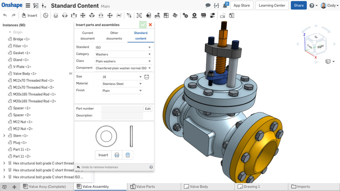 Onshape Standard Content - Parametric Modeling 2.0