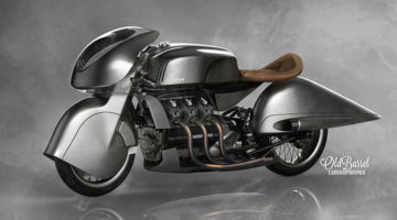"Model of The Week: ""Old Barrel"" Retro Motorcycle [6 Cylinders of Steampunk Speed!]"