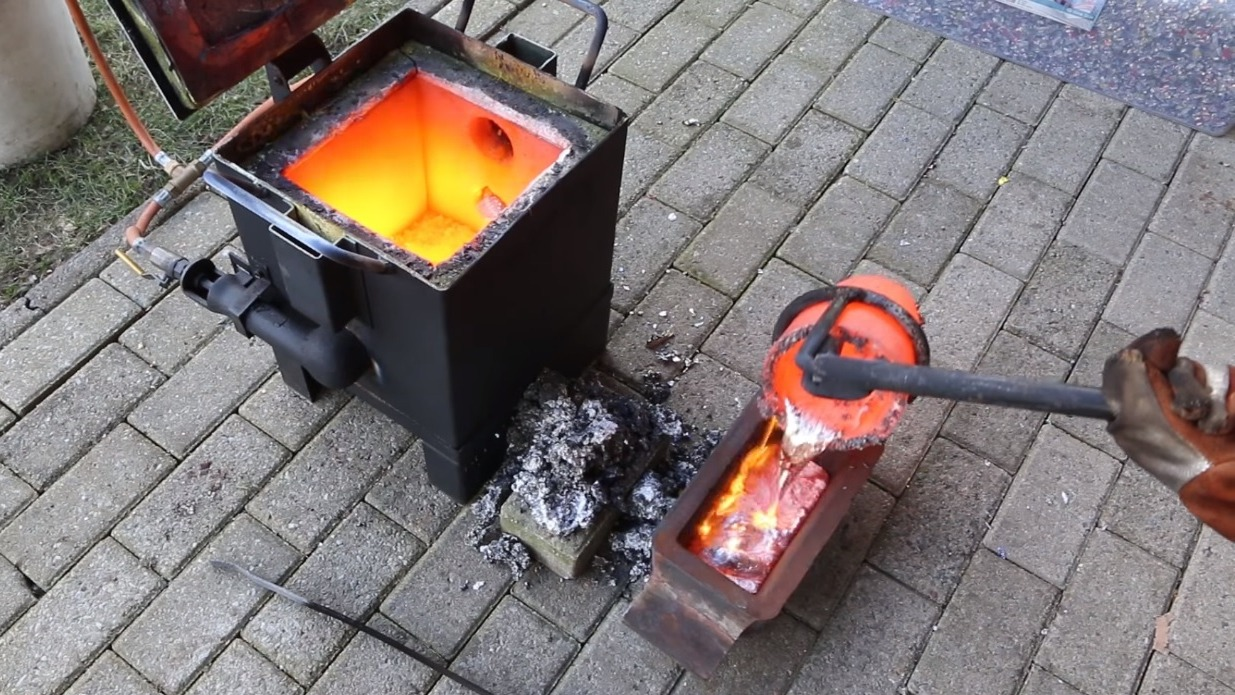 Watch 1,000 Soda Cans Melt Into Hefty, Aluminum Ingots