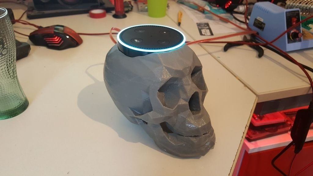 Amazon Echo Dot 3D Printed Skull Stand