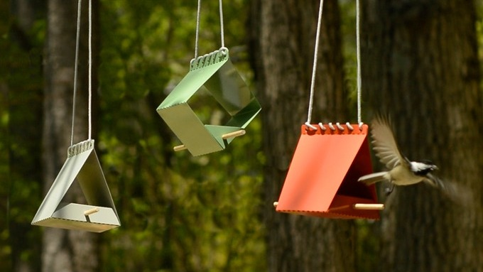 The Ultra-Minimalist Brdi Feeders Are Literally For the Birds