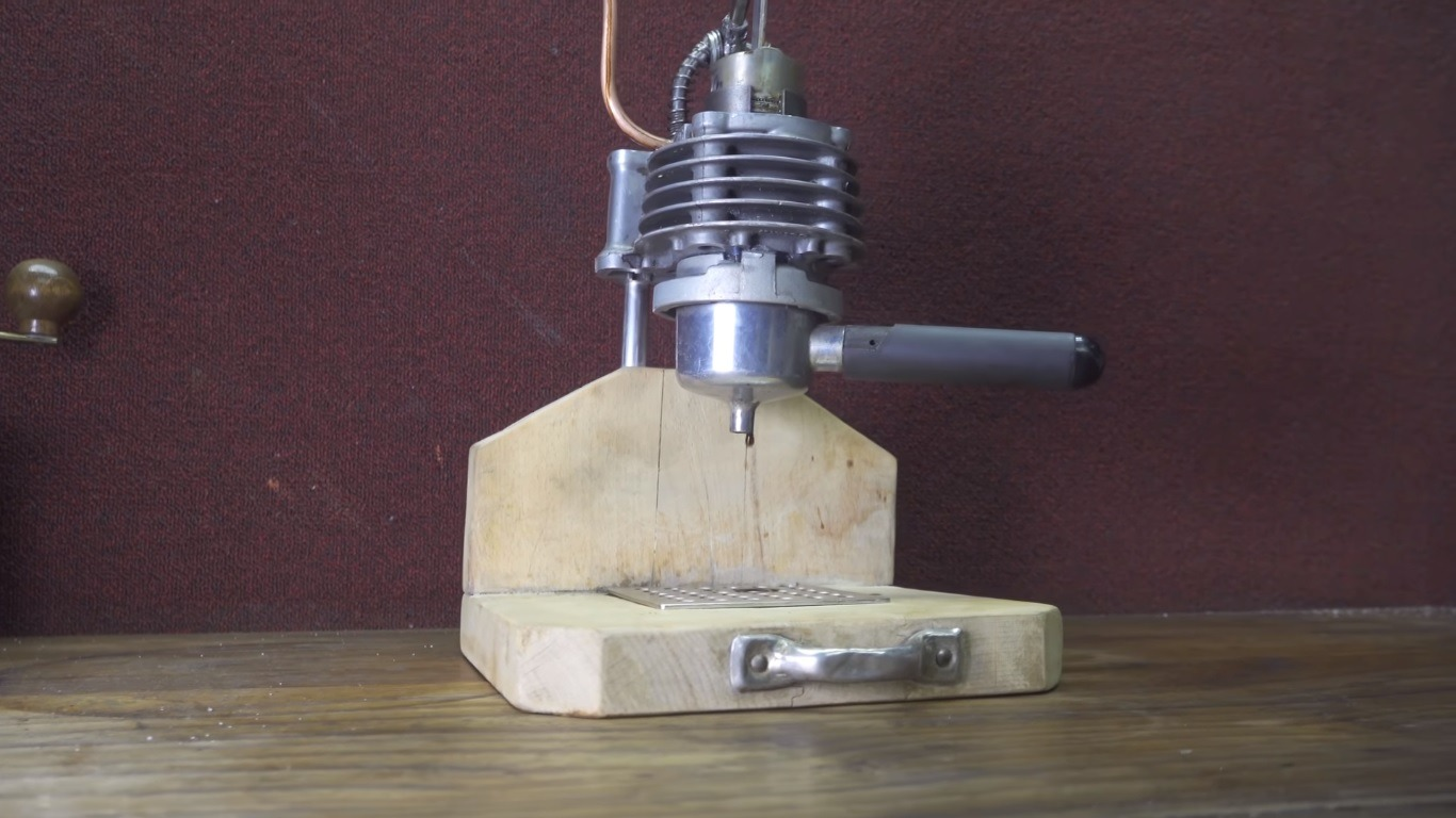 This Insane Espresso Machine is Made From a Motorcycle Piston and Cylinder