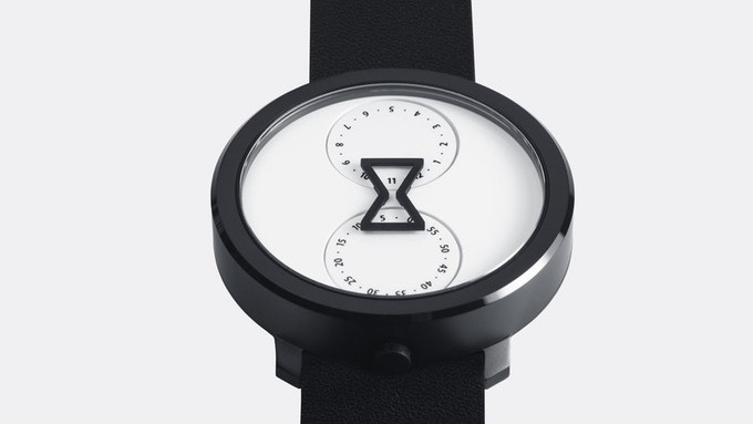 90b3e7db2bc The Nu Ro Is an Analog Watch Which Tells Time Through a Minimalist Hourglass