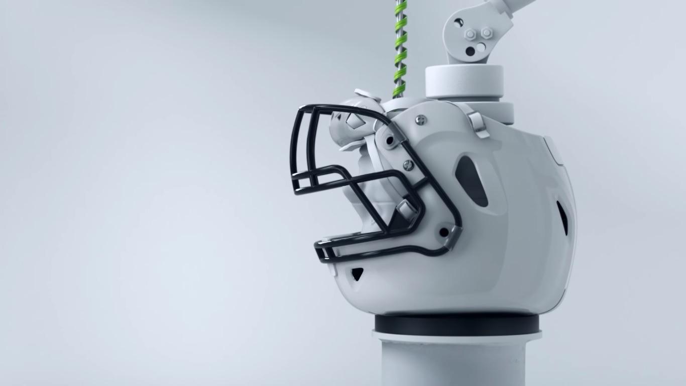 The ZERO1 Football Helmet Incorporates Modern Collapsible Car Technologies