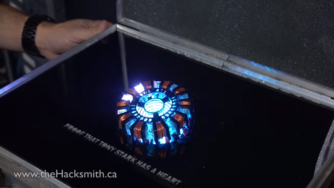 This Guy Built His Own Iron Man Arc Reactor To Charge His