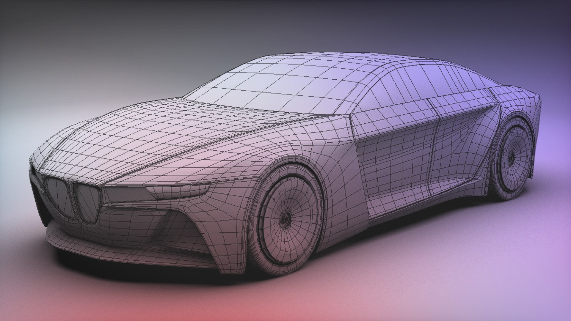 polygonal car modeling