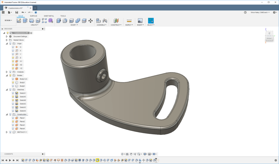SkillCoach | Fusion 360 Parametric Part Modeling From 2D