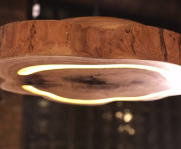 Hand Carved Wood Light