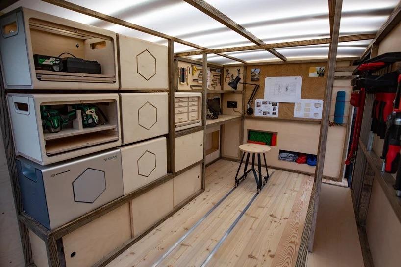 nissan woodworking van