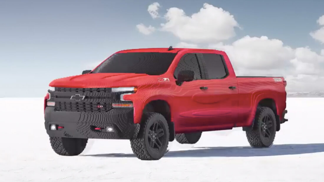 Chevrolet Just Built a Full-Sized LEGO Silverado Pickup Truck