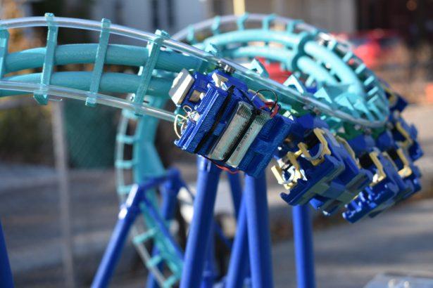 miniature roller coasters
