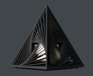 delta triangle desk lamp