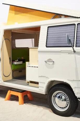 It Took 400,000 LEGO Bricks to Make This Volkswagon Camper Van (with Sliding Door)