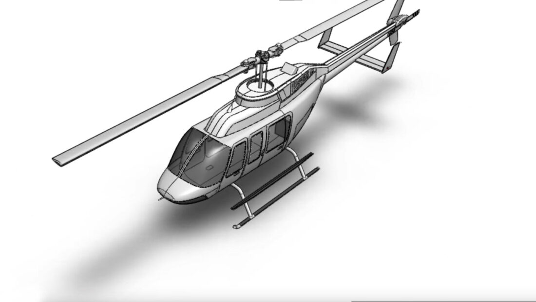 How to Model a Helicopter in SOLIDWORKS [New Tutorial!]