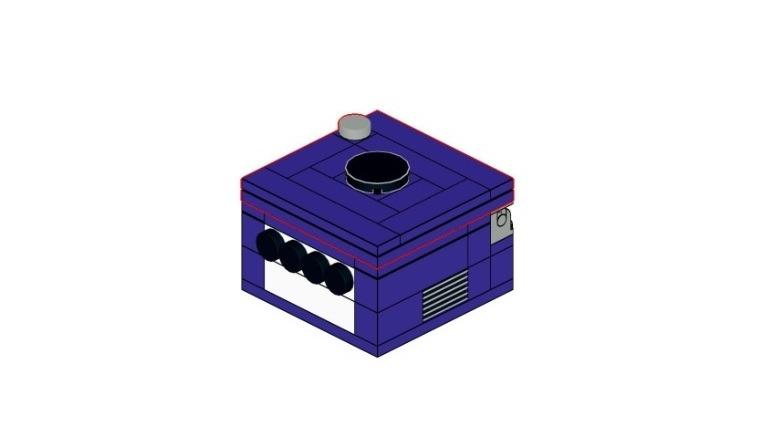 LEGO Nintendo GameCube case