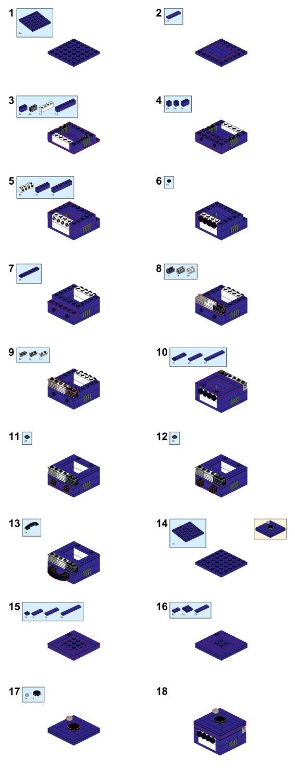 lego gamecube switch cartidge holder