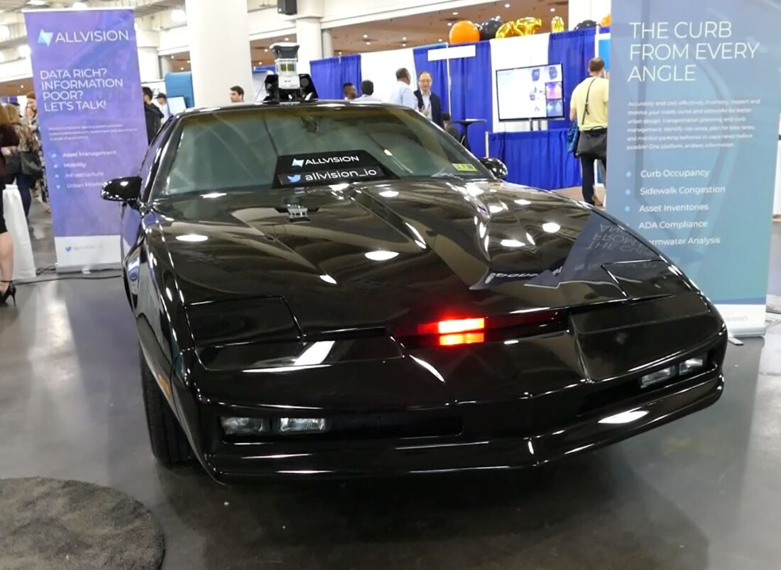ALLVISION's Flashy Booth Display -- A Faux KITT  Knight Rider Car