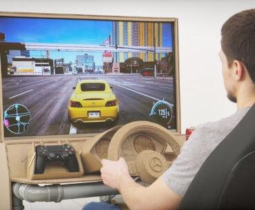 Cardboard driving cockpit